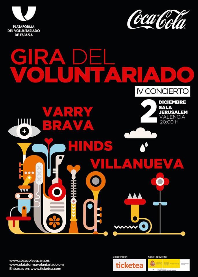 Cártel Gira del Voluntariado en Valencia 2017