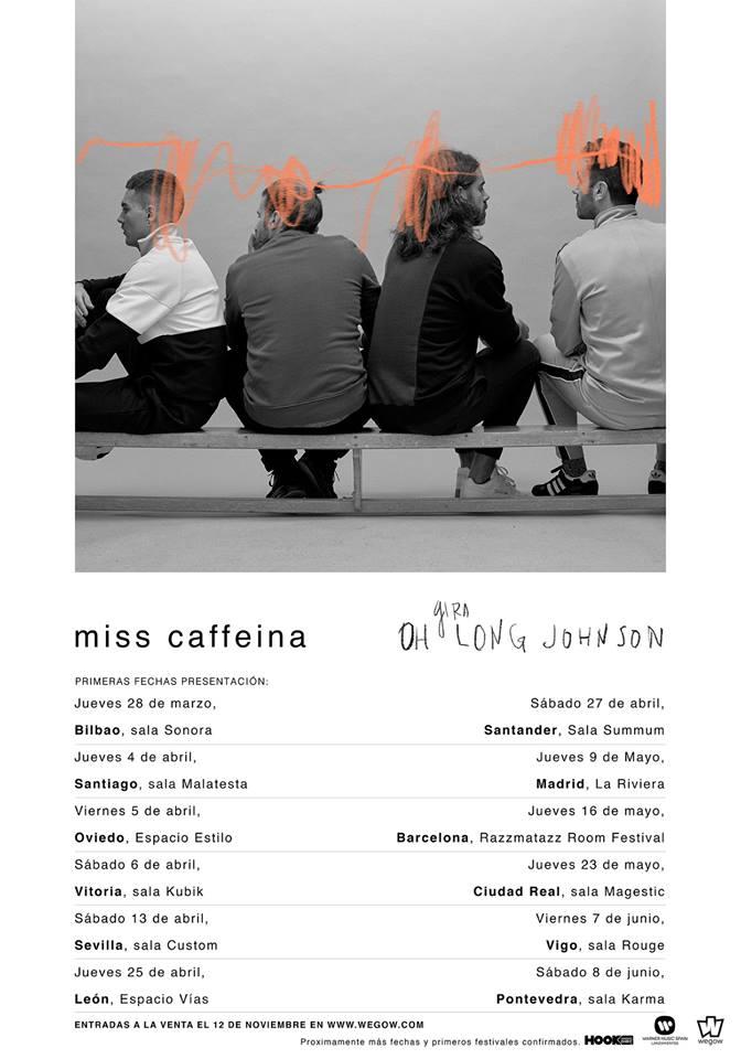 Miss Caffeina gira Oh Long Johnson